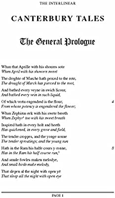 Chaucer's Canterbury Tales (Selected): An Interlinear