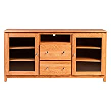 "Forest Designs FD-4157- UH-30h-MO Urban TV Cart with Drawers, 62"" W x 30"" H x 21"" D, Merlot Oak"