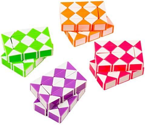 [해외]Snake Twist Puzzles - 8-Pack Twist Puzzle Snake Puzzles for Kids Snake Cubes Non-Toxic ABS Plastic Multicolored 2.3 x 1.6 x 0.6 Inches / Snake Twist Puzzles - 8-Pack Twist Puzzle, Snake Puzzles for Kids, Snake Cubes, Non-Toxic ABS ...