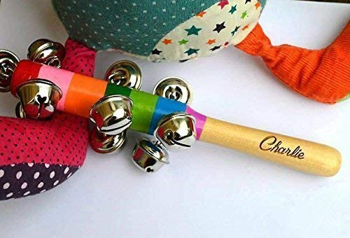 Personalised Baby Rattle, Wooden Music toy