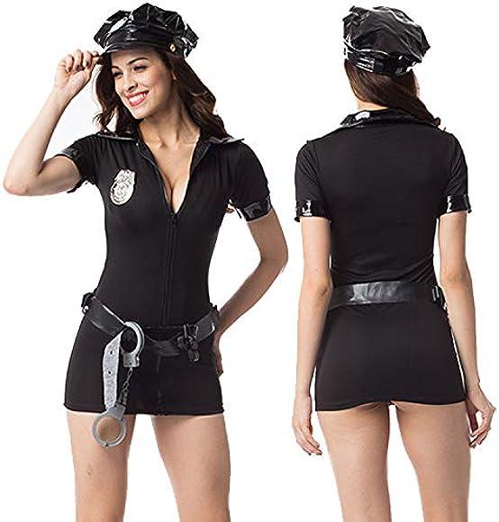 YZXL Traje de Mujer policía Sexy, Traje de Mujer policía corrupta ...