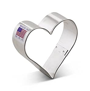 Ann Clark Heart Cookie Cutter - 2.5 Inches - Tin Plated Steel