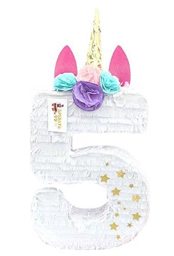 APINATA4U Unicorn Number Five Pinata