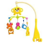 Sacow Baby Bed Bell Baby Bedding Crib Musical Mobile with Hanging Rotating Soft Colorful Plastic Dolls (Multicolor)