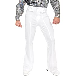 Charades Men's Disco Pants, White, 40