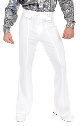 Charades Men's Disco Pants, White, 40 -