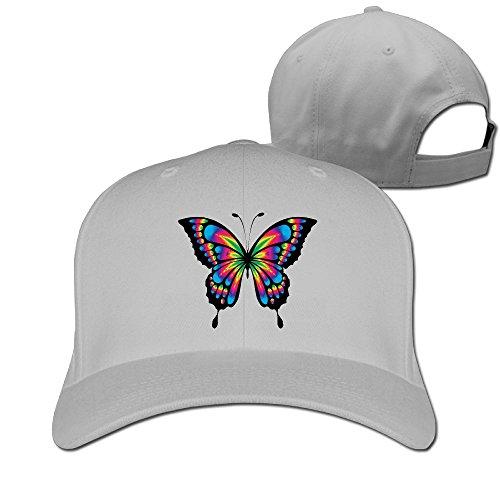 Li2u-id Butterfly Autism Adult Men Female Unisex Adjustable Plain Cap Baseball Cap Mesh Caps -