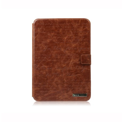 Galaxy Note 10.1 Lettering Diary Wallet Case Cover Collection - Italian Top Faux Leather - Brown by Zenus