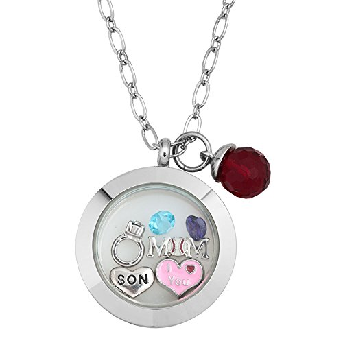 CharmsStory Crystal Floating Magnetic Necklace