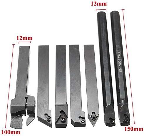 GENERICS LSB-Werkzeuge, 12mm 21 Teile/Satz Schaftdrehmaschine Drehwerkzeughalter Bohrstange + Einsatz + Schraubenschlüssel S12M-SCLCR06 / SER1212H16 / SCL1212H06