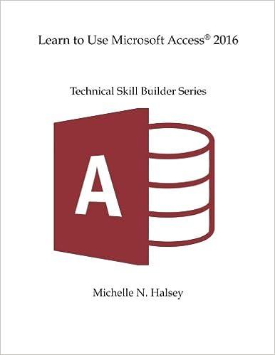Amazon com: Learn to Use Microsoft Access 2016 (Technical