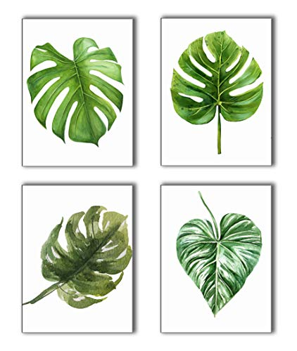 Canvas painting Tropical leaves