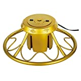 Home Heritage Golden Rotating Christmas Tree Stand for Trees up to 9 Feet Tall