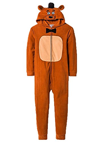 Five Nights At Freddys Big Boys Freddy Fazbear Pajamas Costume Licensed (X-Large) ()