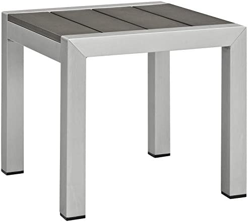 Modway Shore Aluminum Outdoor Patio Side Table