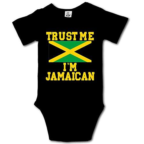 10b101d8fbb HUDS VIFV Trust Me I'm Jamaican Baby Unisex Short-Sleeve Onesies Bodysuits