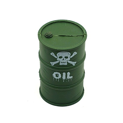 1/10 RC Harden Plastic Oil Gas Drum Tank for TRX44 SCX10 D90 D110 TF2 Rock Crawler Truck