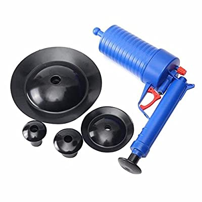 Fun-Ker Toilet Plunger, Air Drain Blaster, Pressure Pump Cleaner, High Pressure Plunger Opener Cleaner Pump for Bath Toilets, Bathroom, Shower, Kitchen Clogged Pipe Bathtub