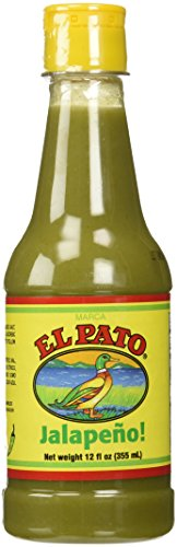 El Pato Flavorful Green Jalapeno Hot Sauce, Bundle of 2 (12oz) -