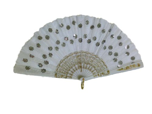 Unknown Folding Fan with Sequins