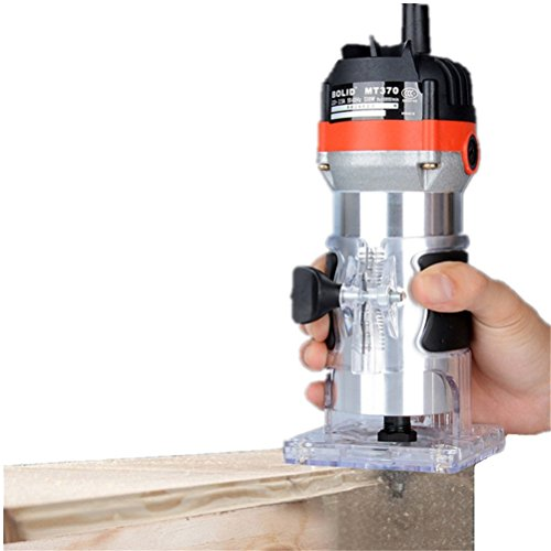 Ascendons 220V 530W Router Trimmer 1/4'' Electric Hand Trimmer Motor Carving Machine Carpenter Woodworking Trimmer Power Tool