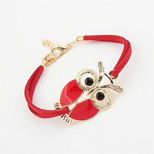BEAUTEOUS Version of The New Retro Bracelet Owl Decorated Artificial Leather Retro Bracelet Wholesale Made in China