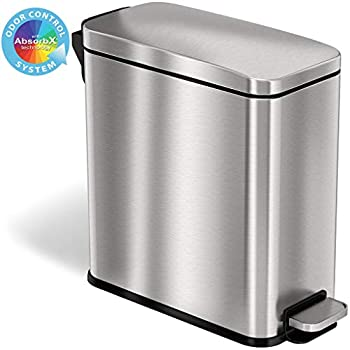 Office Waste Bins Trash Can Trash Containers Small Garbage Can With Lid Topgalaxy Z Kitchen Trash Bin Waste Can 5 Liter 1 32 Gallon Stainless Steel Trash Can Green Waste Bins
