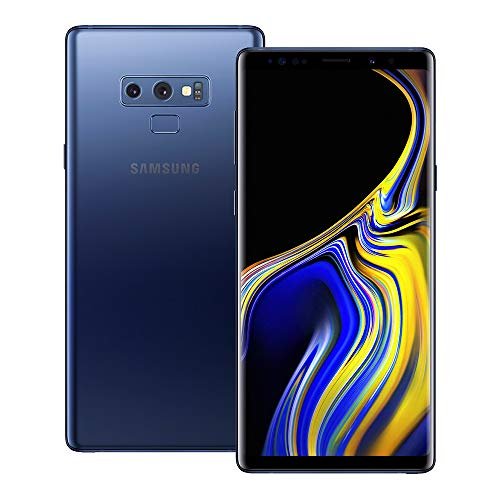 (Samsung Galaxy Note 9 (SM-N960F/DS) 6GB / 128GB (Ocean Blue) 6.4-inches LTE Dual SIM (GSM ONLY, NO CDMA) Factory Unlocked - International Stock No Warranty)