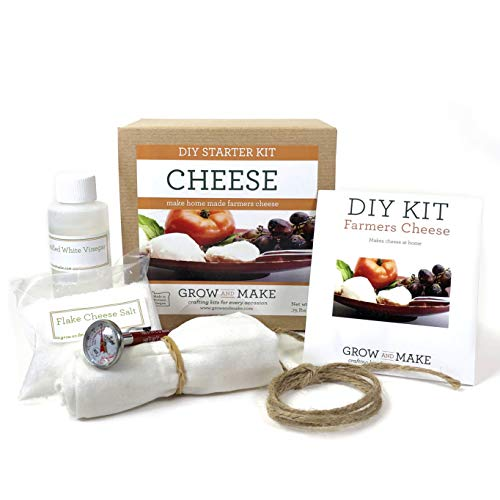 Grow and Make DIY Farmer's Cheese Making Kit - Learn how to make home made farmer's cheese!