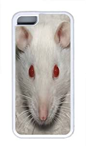 TYH - Big Face White Rat Custom iPhone 4/4s Case Cover TPU White ending phone case