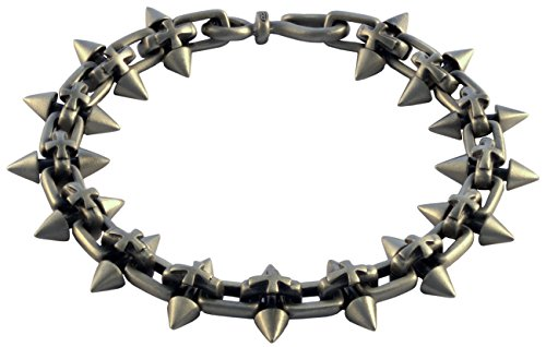 Bico Raw Spiked Cross Pewter Bracelet (FB310 24cm-9in) - strength and new beginnings