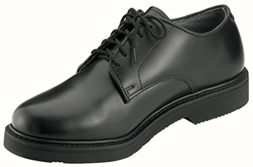 Mens Dress Shoes - Oxfords Soft Sole Leather Uniform Black, 11.5