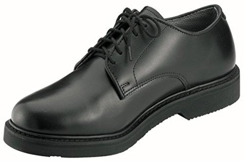 Leather Uniform Shoes - Rothco Soft Sole Uniform Oxford/Leather Shoe, Black, 8