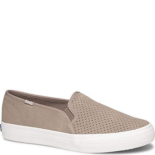 Keds Women's Double Decker Suede Sneaker, Taupe, 8.5 Wide