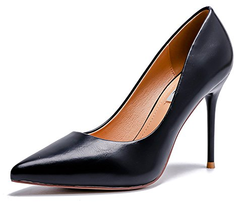 Escarpins Stiletto Femme Pointu Noir Banquet Simple Bout Aisun qSvYv