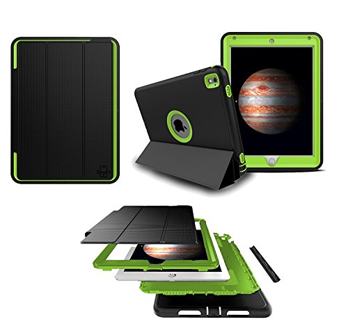 5-Piece Ultimate Protection [Ridgeline Series] Case With Built-In Screen Protector for iPad Pro 9.7 | Drop Protection | Water, Dust, & Scratch Resistant (Lime - Lime Pro