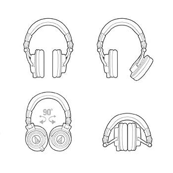 Audio-technica Ath-m50x Professional Studio Monitor Headphones, Black 10