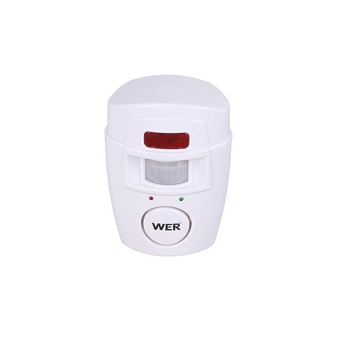 WER Wireless Security Senor Home Garage Store Security Surveillance Alarm Remote Control Anti-Theft Alarm(2 Pack) - - Amazon.com