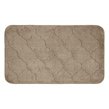 Bounce Comfort Faymore Memory Foam Bath Mat, 17 by 24 , Linen