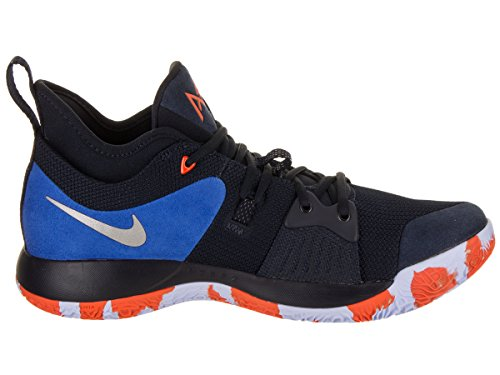 official photos 4bb14 28fe3 Amazon.com   NIKE Men s PG 2 Basketball Shoes (9.5, Black Blue -M)    Basketball