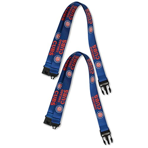 PSG INC Official Major League Baseball Fan Shop Authentic 2-pack MLB Lanyards/keychains Badge Holder (Chicago Cubs)