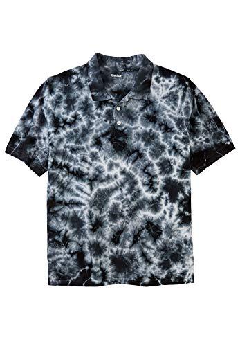 KingSize Men's Big & Tall Pique Polo Shirt, Steel Marble Big-6Xl ()