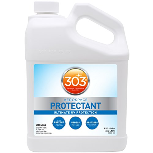 303 (30320) UV Protectant Gallon for Vinyl, Plastic, Rubber, Fiberglass, Leather & More – Prevents Fading & Cracking from UV Damage – Restores Color & Repels Dirt –Non-Toxic, Matte Finish, 128 Fl. oz.