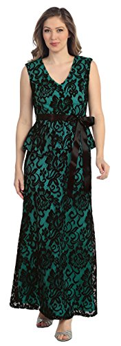 Belle Maids All Lace Long Formal Gown 8790S