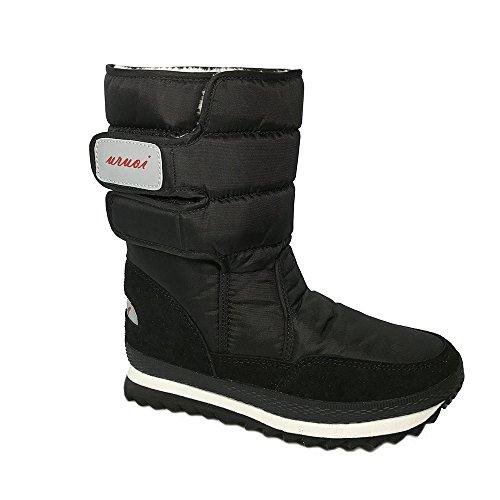 uruoi New Year Gift Women Snow Boots Anti-Slip Soles Waterproof Upper 4 Color Black 7.5 B(M) US 40