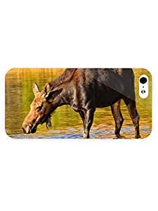 3d Full Wrap Case For Htc One M9 Cover Animal Moose Drinking Water