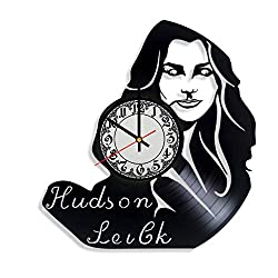 Hudson Leick Actress Handmade Vinyl Record Wall Clock, Get Unique Bedroom or Nursery Wall Decor - Gift Ideas for Kids and Teens - Unique Art Design