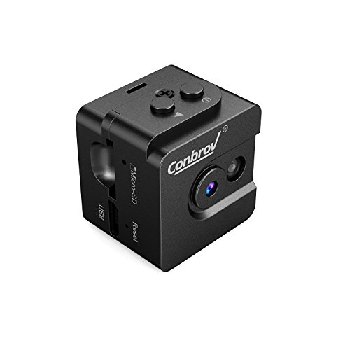 Conbrov Mini Camera Spy Body Cam, 720P Portable Small Hidden Camera with Night Vision Sound Activated, Record Superior HD Video and Photo for Home and Office Security