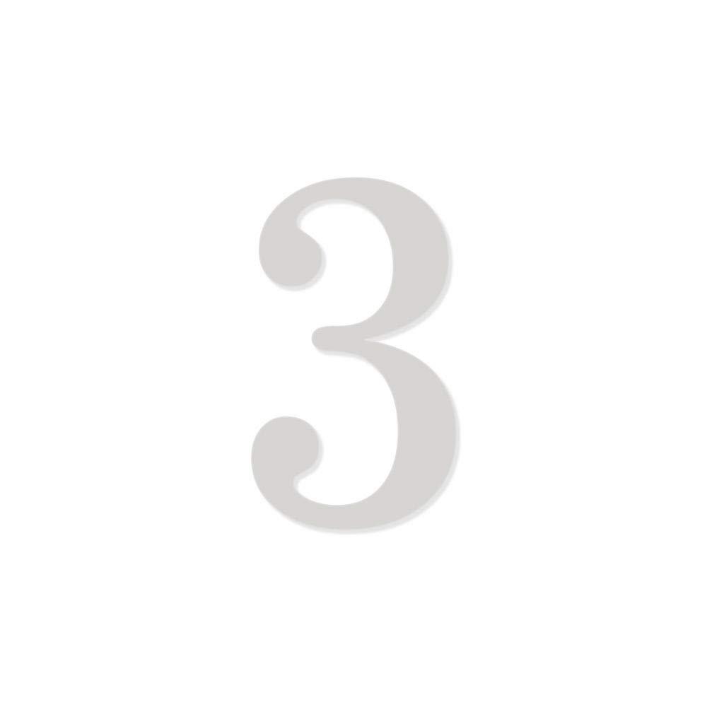 Chiffre adh/ésif 5 cm pour boite aux lettres Chiffre 7 Noir