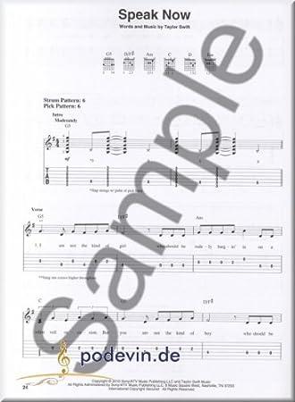 Taylor Swift - Speak Now (Easy Guitar) - Partituras para Guitarra ...